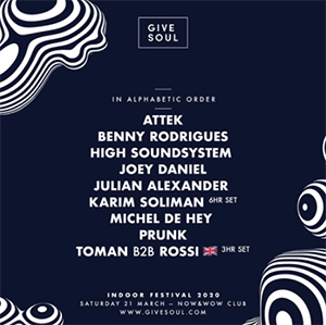Give Soul Indoor Festival 2020